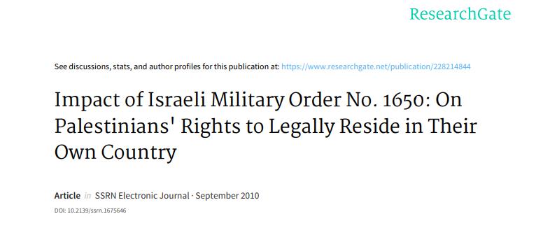 impact-of-israeli-military-order